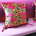 The Country Pig Brights Cushion image