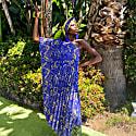 Lady Electric Paisley Pleated Kaftan image