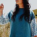 Tweed Blue Slouch Jumper image