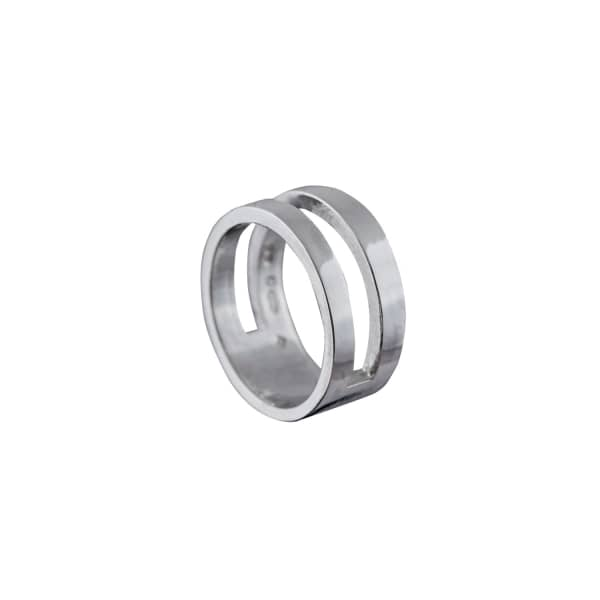 Parallel Ring Silver