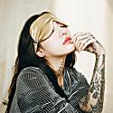Mulberry Silk Eye Mask Gold image