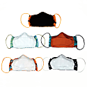 5 Pack Fun & Colorful Triple Layer Cotton Face Masks With Nose Wire Elephant image