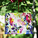Drum Lamp Shade In Pink & Mauve Bouquet Of Flowers Design image