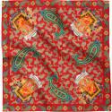 Gajraj Royal Elephant & Paisley Silk Scarf Collection Red image