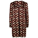 Emily Long Sleeved Shift Dress in Burgundy Poppy Print image