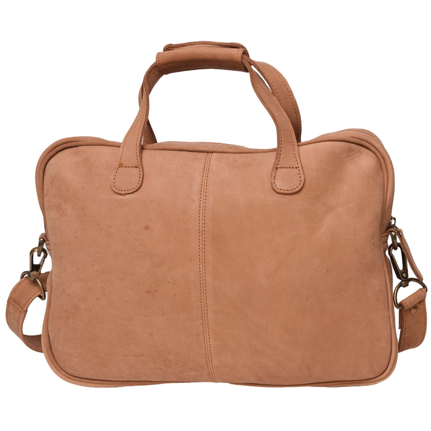 MAHI Compact Leather Lightweight Laptop/Work Case/Satchel Bag With 13