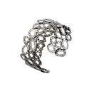 Fancy Diamond Charms Cuff Rhodium image