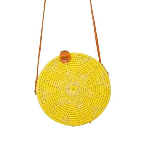 SOI 55 Cantik Round Bali Bag / Lemon
