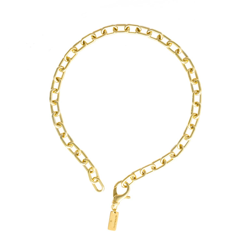 Glenda Lopez 18kt Gold Dipped Small Golden Links Necklace RWC3xbnx