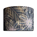 Breeze Tropical Print Velvet Lampshade - 35X23Cm image