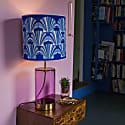 Blue Shell Deco Velvet Lampshade image