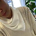 Ivory Silk Face Bandana The Penelope Bandana image