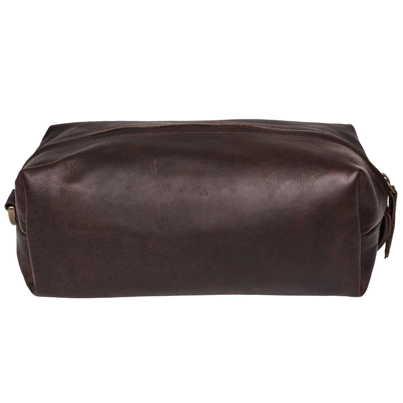 7f42146ec0d4 Leather Classic Toiletry Bag Dopp Kit Vintage Mahogany
