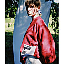 Organic Cotton Oversized Jumper With Patches, Red image
