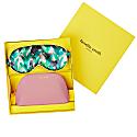 Boxed Elephant Eye Mask And Blush Oyster Cosmetic Case Gift Set image