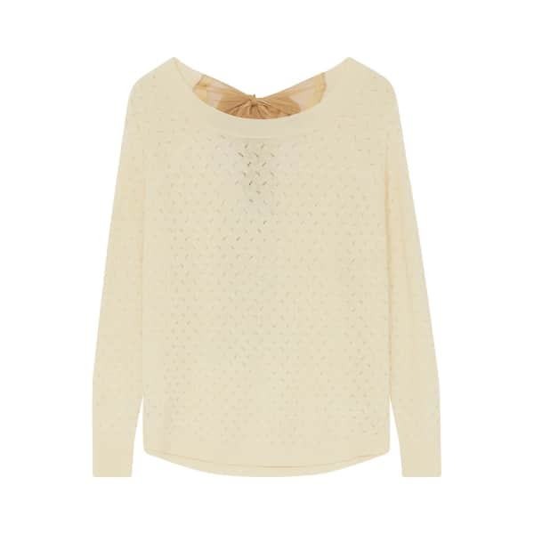 ILLE DE COCOS Fantasy Bow Sweater Beeswax & Gold