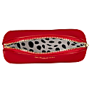 Red Vegan Leather Oyster Cosmetic Case image