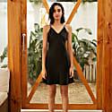 22Mm Organic Silk Dress Elegant V-Neck-Marilyn Black image