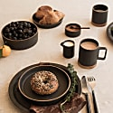 Yogi Ceramic Breakfast Plate - Dark Ash image