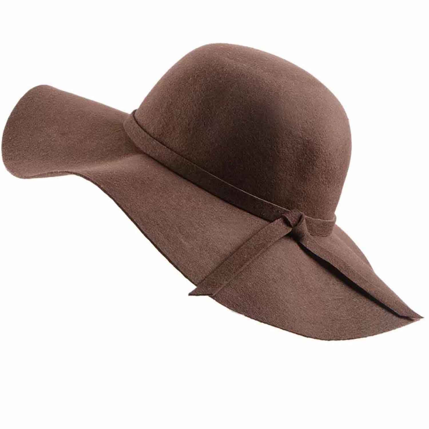 6f1067e91187c Ladies Brown Wool Fedora Hat image
