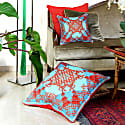 Xanadu Red Silk Cushion image