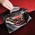 Giant Silk Moth Velvet Clutch Bag Samia Cecropia image