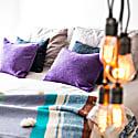 Heather Purple Harris Tweed Pure New Wool Cushion image