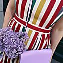 Colourful Tivoli Inspired Dress Red image
