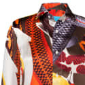 'Koi II' Multicolour Unisex Silk Satin Shirt image
