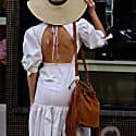 Caroline White Backless Dress image