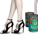 Aline Lace & Ankle Strap Sandals Black image