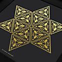 Beetlegeuse Star Print Gold & Black image