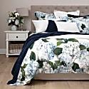 Blue Hydrangea Cotton Sateen Duvet Set King image
