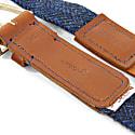 Highland Blue Harris Tweed Calway Leather & Nickel Belt image