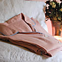 Peachy Pink Linen Short Sleeve Pyjama Trouser Set image