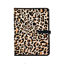 Pony Hair Leather A4 Portfolio In Leopard Print image
