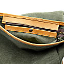 Mod 234 Fabric Green & Vegetable Tanned Leather Backpack image