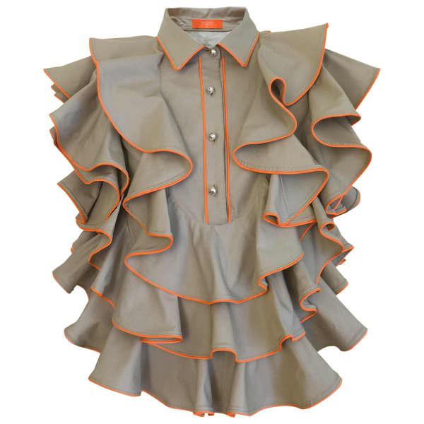 SUPERSWEET X MOUMI Manooshby Shirt Beige