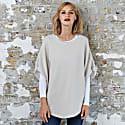 Flora Cotton Cashmere Poncho Starch & Duvet image