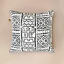 Mbali White Printed Mudcloth Cushion image