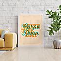 Carpe Diem Print - Orange & Turquoise image