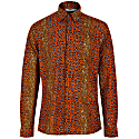 Asante Long Sleeve African Print Shirt - Brownstone image
