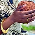 Kibos Hammered Brass Blade Bracelet image
