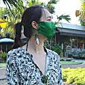 Emerald Pure Silk Satin Face Mask image