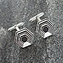 Black Hexagon Cufflinks image