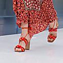 Cape Bay - Red Block Heels Sandals image