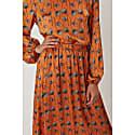 Plain Jane Midi Skirt in Orange Poppy Print image