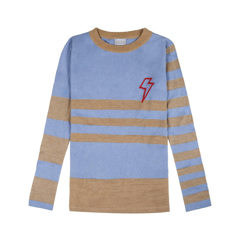 Baby Bowie Stripe in Light Blue   Gold  2b01ea034