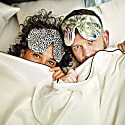 Silk Leopard Deep Sleep Eye Mask With Velvet Ribbon image