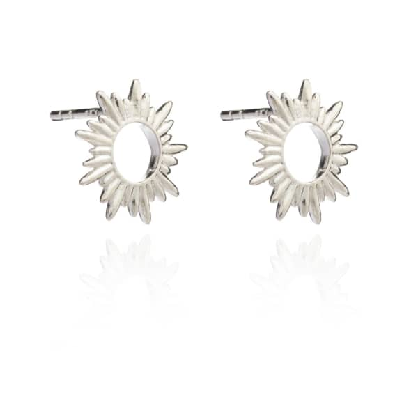 Sunray Studs In Silver from Wolf & Badger